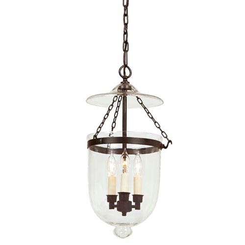 Bellacor bell urn pendant lighting adds a warm and decorative touch medium oil rubbed bronze three light hanging bell pendant with clear glass aloadofball Gallery