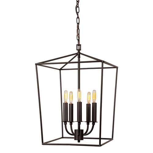 JVI Designs Austin Oil Rubbed Bronze 15-Inch Five-Light Lantern