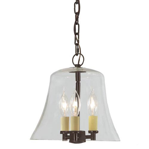 JVI Designs Greenwich Oil Rubbed Bronze Three Light Hanging Bell Pendant