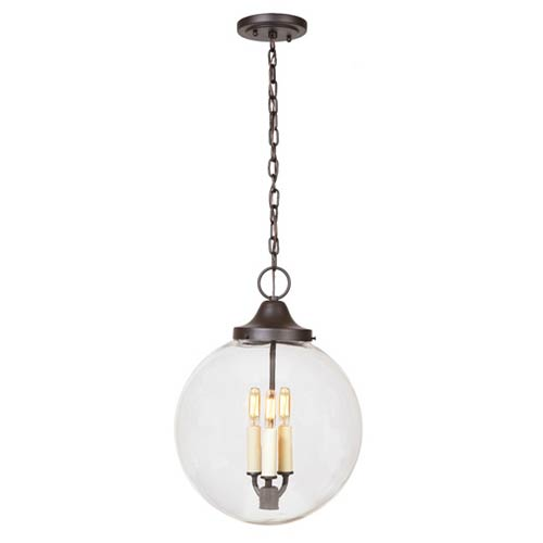 JVI Designs Boston Oil Rubbed Bronze Three-Light Hanging Globe Pendant