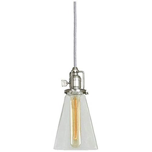 JVI Designs Union Square Pewter 4.75-Inch Mini Pendant with Clear Glass Shade