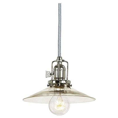 Union Square Polished Nickel Eight-Inch Mini Pendant with Clear Glass Shade