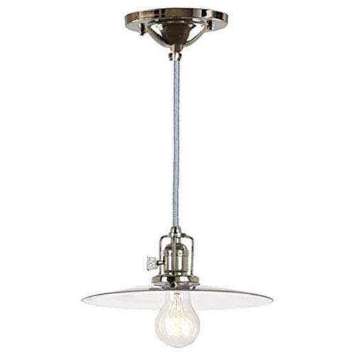 Union Square Polished Nickel 10-Inch Mini Pendant with Clear Glass Shade
