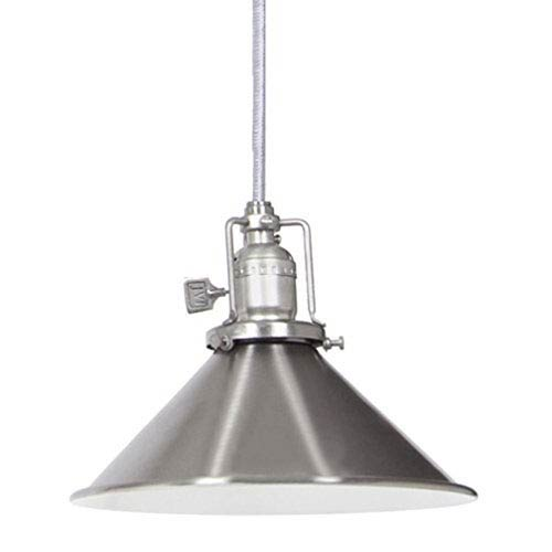 Union Square Pewter Eight-Inch Mini Pendant with Metal Shade