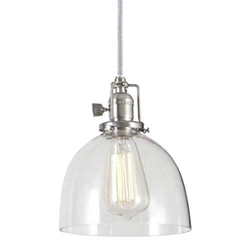 Union Square Pewter Seven-Inch Mini Pendant with Clear Glass Shade