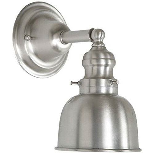 JVI Designs Union Square Pewter Five-Inch Wall Sconce with Metal Shade
