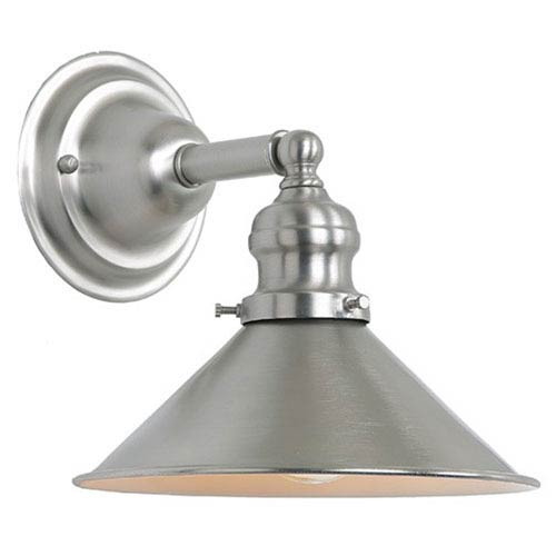 Union Square Pewter Eight-Inch Wall Sconce with Metal Shade