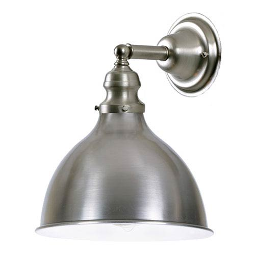 Union Square Seven-Inch White and Pewter Wall Sconce