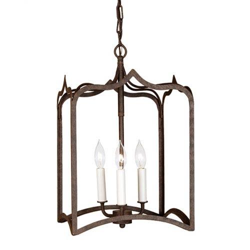 JVI Designs Gothic Medium Rust Three-Light Lantern Pendant
