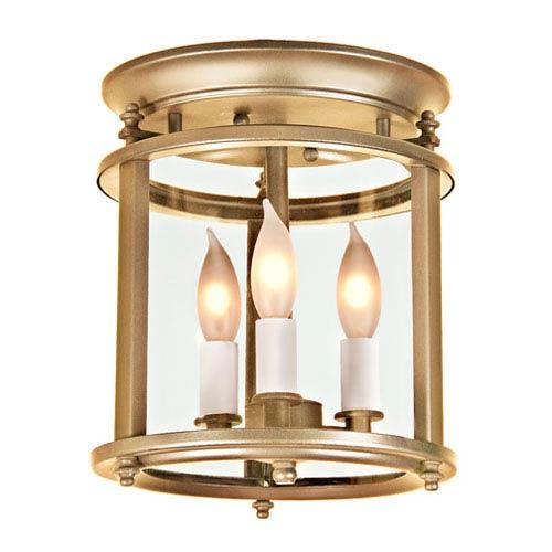 JVI Designs Murray Hill Rubbed Brass Small Flush Ceiling Mount