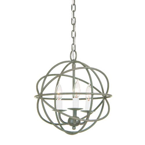 Globe Three Light Chandelier
