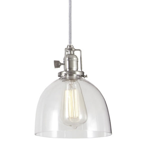 Union Square Pewter Pendant w/ 7-Inch Clear Glass Dome Shade