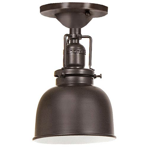 Union Square Oil Rubbed Bronze One Light Flush Mount with 5-Inch Metal Shade