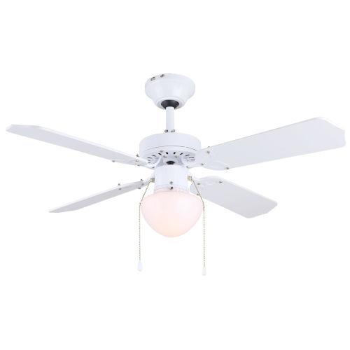 Galaxy White 36-Inch One-Light Ceiling Fan