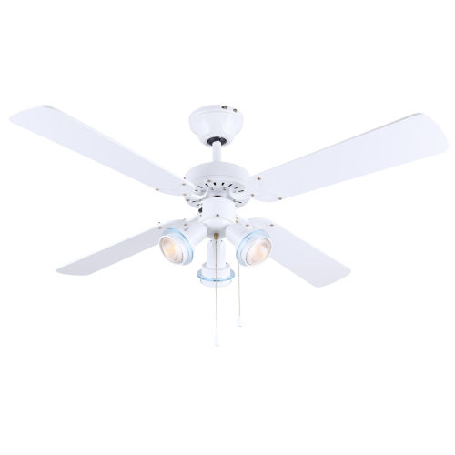 Catalyst VI White 42-Inch Three-Light Ceiling Fan