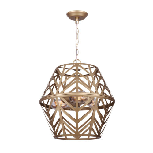 Neva Painted Gold Six-Light Chandelier