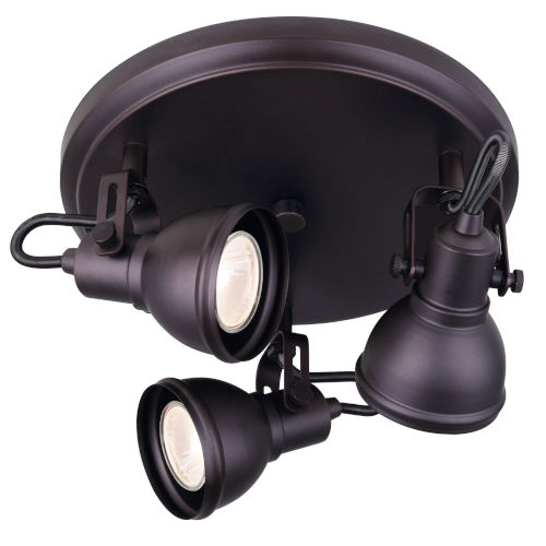 Polo Oil Rubbed Bronze 11-Inch Three-Light Track Light