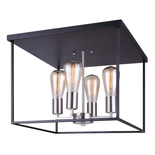 Roy Black Four-Light Flush Mount