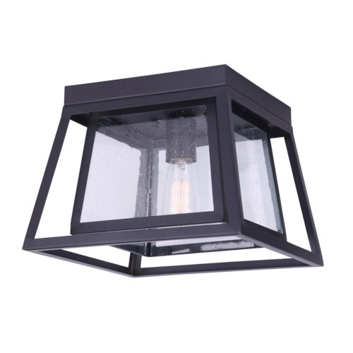 Grove Black One-Light Outdoor Flush Mount