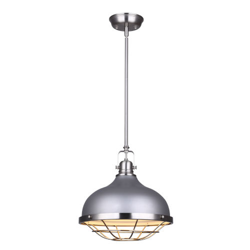 Gunnar Gray and Brushed Nickel One-Light Pendant