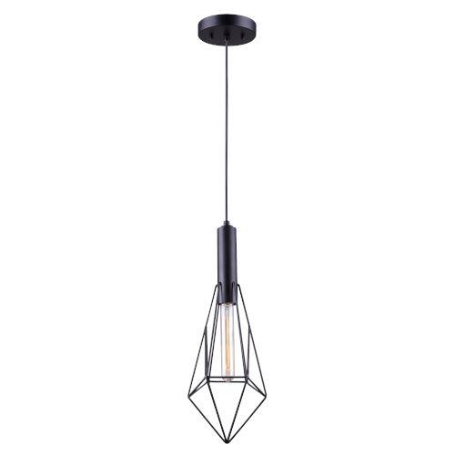 Greer Matte Black One-Light Mini Pendant