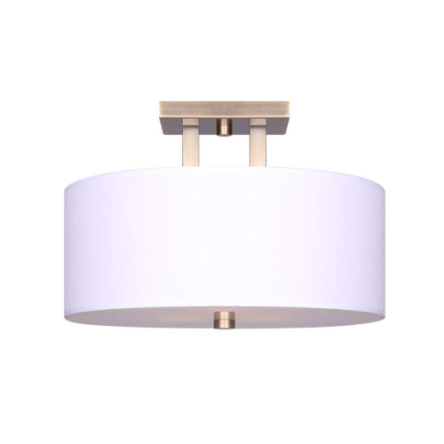 River Gold Three-Light Semi Flush Mount