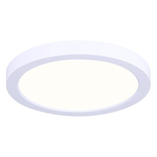 Low Profile White Seven-Inch LED Flush Mount