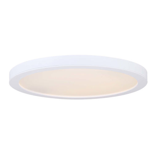 White 15-Inch LED Flush Mount