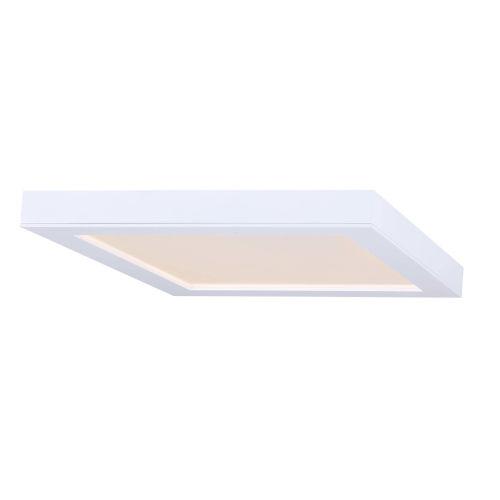 White 11-Inch LED Flush Mount