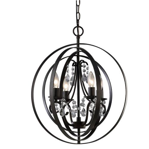 Jordan Oil Rubbed Bronze Four Light Chandelier Glass