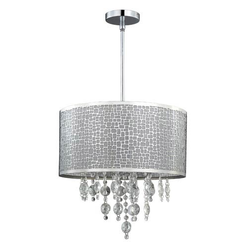 Canarm Benito Chrome Four-Light Drum Pendant