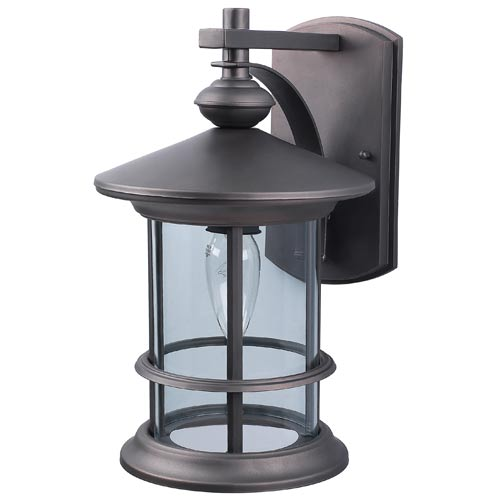 Treehouse Oil Rubbed Bronze One-Light Outdoor Wall Light with Clear Glass