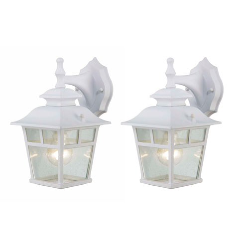 Fieldhouse Twin Pack White One-Light Outdoor Wall Mount