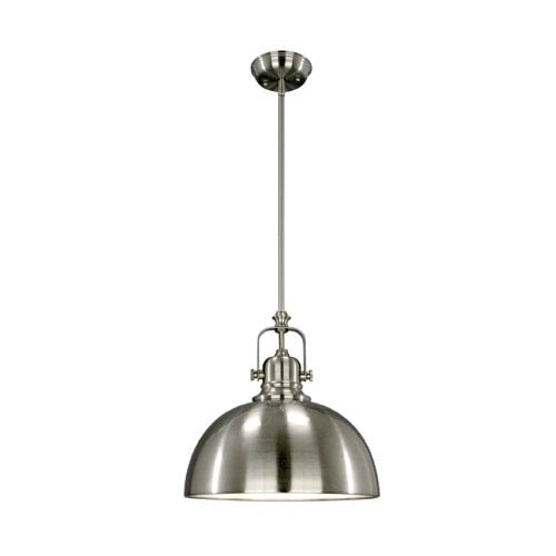 Polo Brushed Nickel One Light Mini Pendant Glass