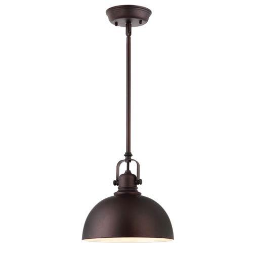 Polo Oil Rubbed Bronze 59.75-Inch One Light Mini Pendant Glass