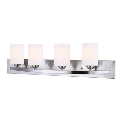 Hampton Brushed Pewter Four-Light Vanity