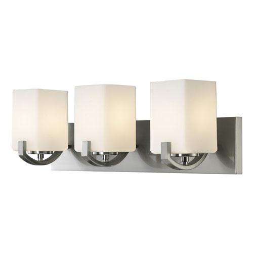 Palmer Brushed Nickel Three-Light Vanity Light