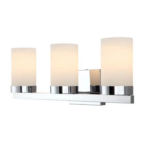 Milo Chrome Three-Light Vanity Light