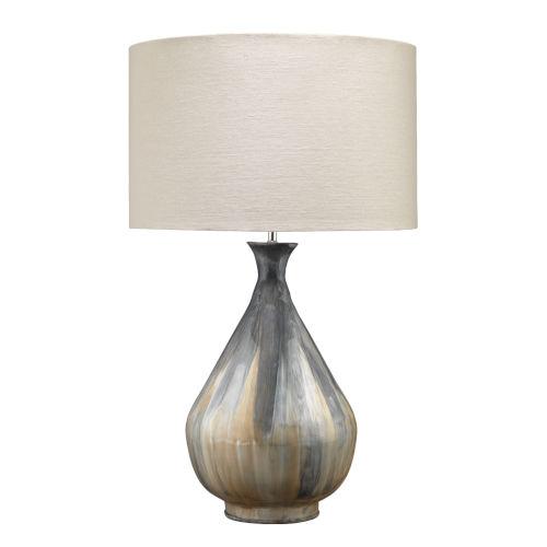 Daybreak Gray Enameled Metal One-Light Table Lamp
