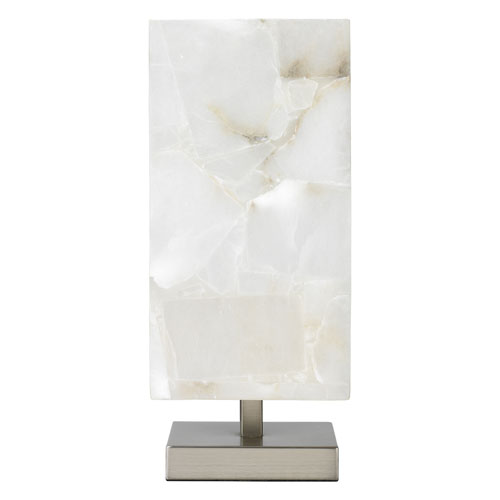 Ghost Axis Alabaster One-Light Table Lamp