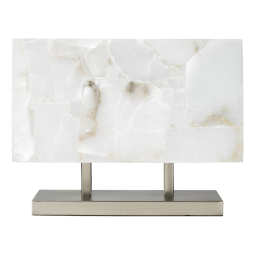 Ghost Horizon Alabaster Two-Light Table Lamp