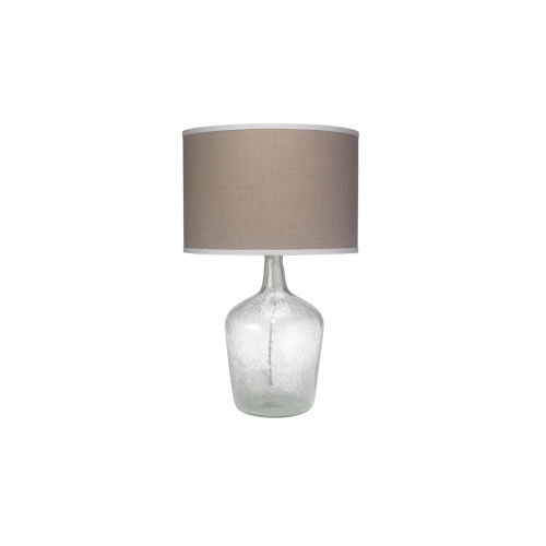 Plum Clear One-Light Table Lamp