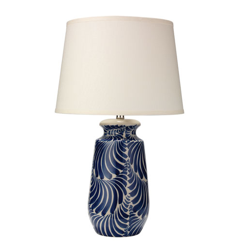 Santa Blue and White 16-Inch Table Lamp