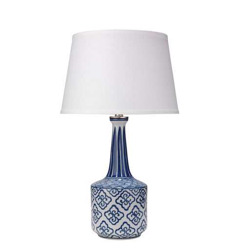 Tashi Blue and White 15-Inch Table Lamp