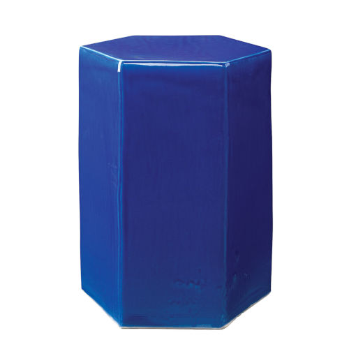 Porto Cobalt Blue 13-Inch Ceramic Side Table