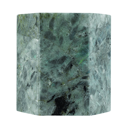 Borealis Labradorite Polished Nickel 7-Inch Sconce