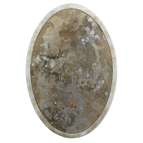 Galaxy Champagne Leaf   Antique Mirror One-Light Wall Sconce