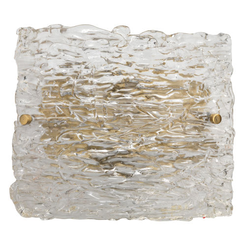 Swan Clear Antique Brass 10-Inch Two-Light Wall Sconce