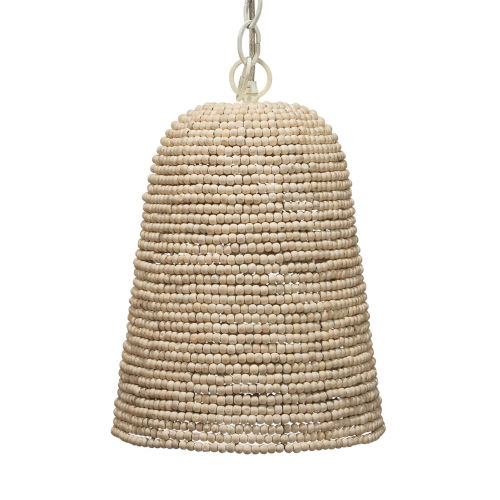Canal Off White Beads One-Light Pendant