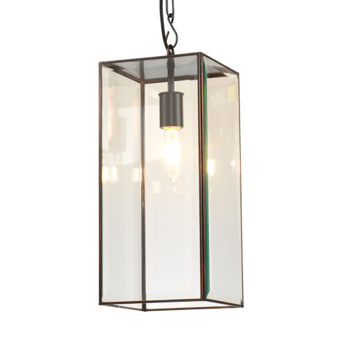 Chelsea Oiled Bronze and Clear Glass One-Light Mini Pendant